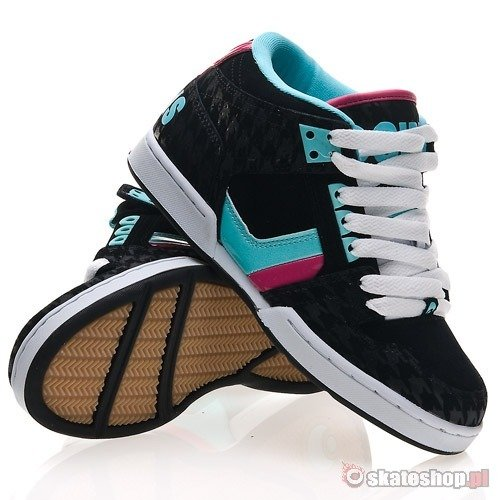 OSIRIS SOUTH BRONX WMN black/teal/houndstooth shoes